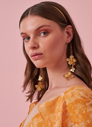 morhipo x dcey Sallantılı Çiçekli Saç Tacı Altın